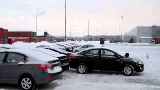 Превращение нового автомобиля Hyundai в металлолом