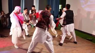 Afghan Boys and Russian girls dance in afghan song