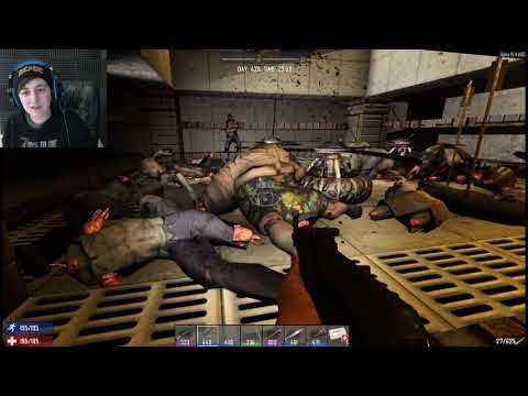 60th Horde Night! Day 420! 7 Days To Die SO Many Zombies! Multiplayer Server With Friends