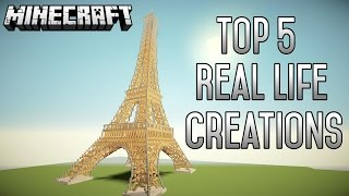 Top 5 INSANE Real Life Minecraft Creations (1.8.6) (June 2015)