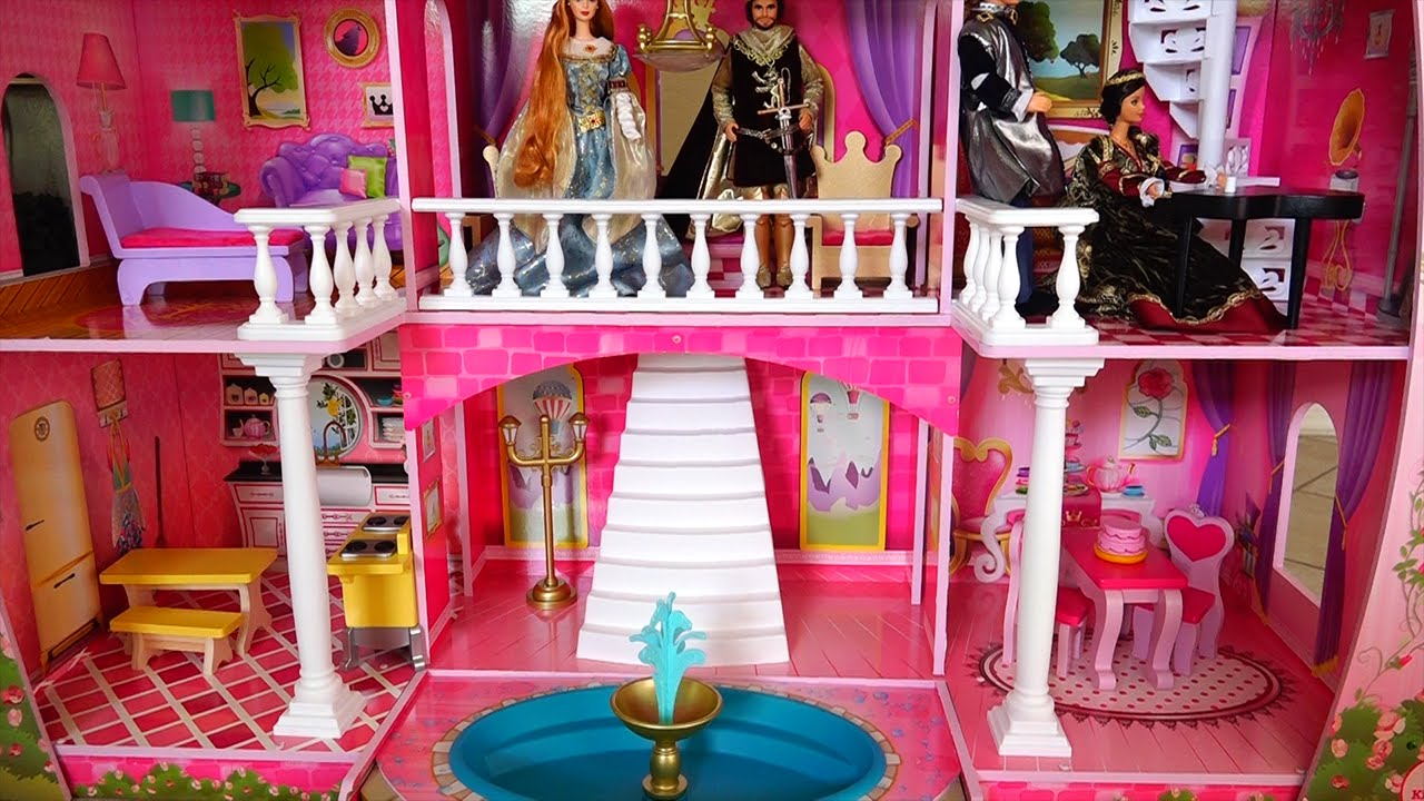 My New Barbie Dollhouse! Cute Toy Fairy Tale Castle Review ...