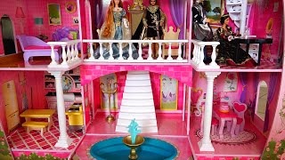my new barbie dollhouse cute toy fairy tale castle review and tour kid friendly family fun