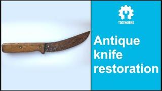 Antique knife restoration
