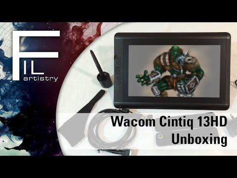 Wacom Cintiq 13HD unboxing