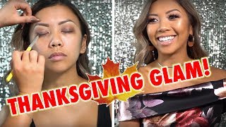 THE PERFECT GLAM FOR THANKSGIVING! ft. NinasMakeup | Liane V