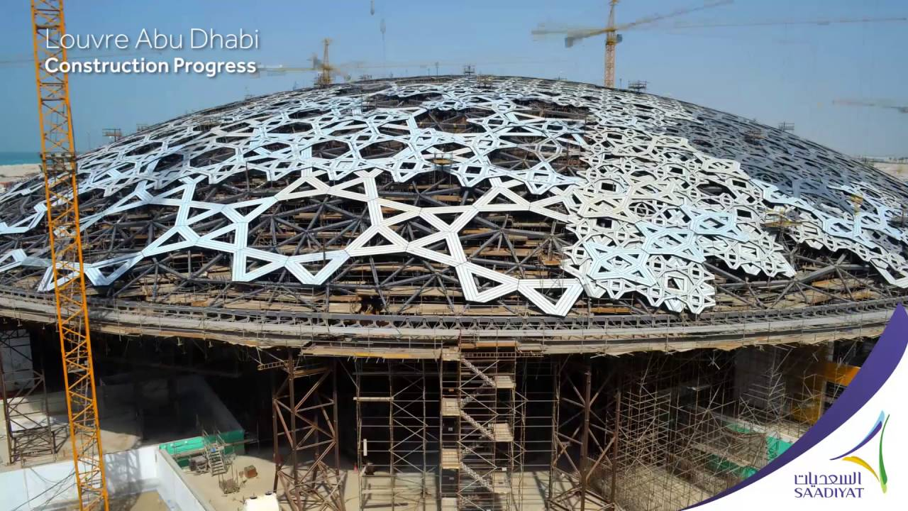 Louvre abu dhabi construction progress youtube - Date construction du louvre ...