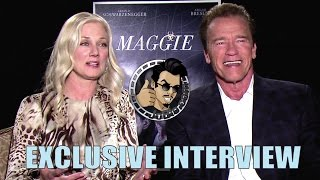 Arnold Schwarzenegger & Joely Richardson Interview - Maggie (2015) Zombie Horror Movie
