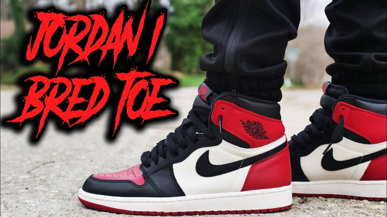 AIR JORDAN 1  BRED TOE  REVIEW AND ON FOOT       YouTube AIR JORDAN 1  BRED TOE  REVIEW AND ON FOOT