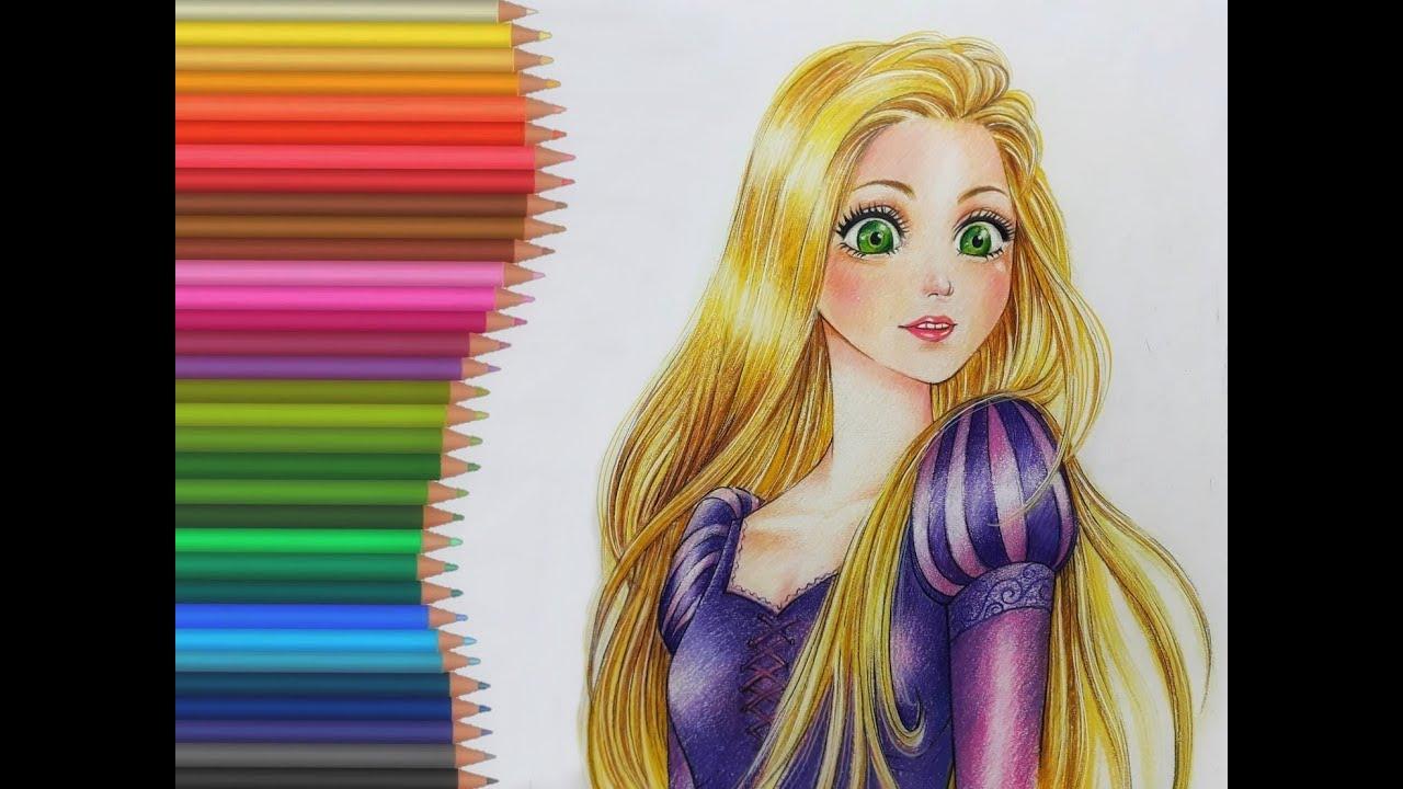 วาดการ์ตูนด้วยสีไม้ Ep.1 เจ้าหญิง Rapunzel