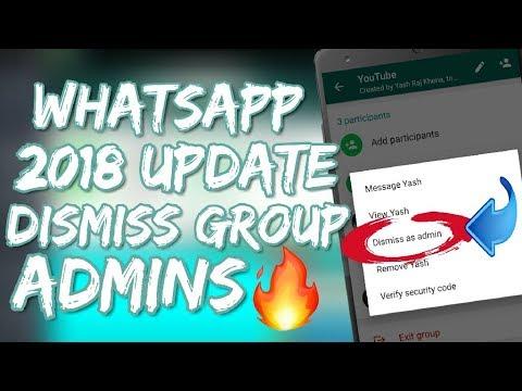 [2018 First Update] How To Remove Group Admin Of WhatsApp | Full TutorialIn Hindi