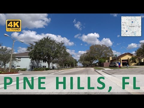 Driving through Pine Hills, Florida (4k)