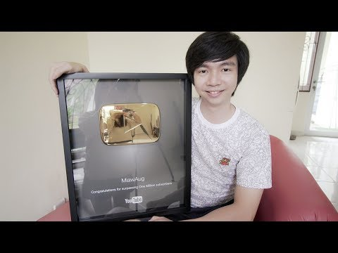 1.000.000 Subs - Gold Play Button - Indonesia