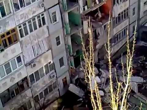 In Astrakhan, Russia, collapsed house, burying several rescuers.
