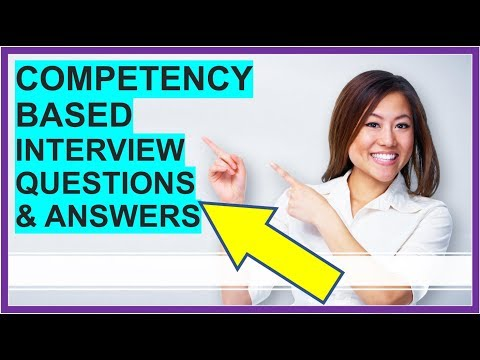 25 Competency Based Interview Questions Answers