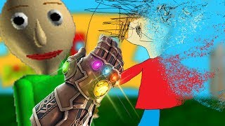WHAT IF BALDI HAD THE INFINITY GAUNTLET!? (oh no...) | Baldi's Basics Gameplay