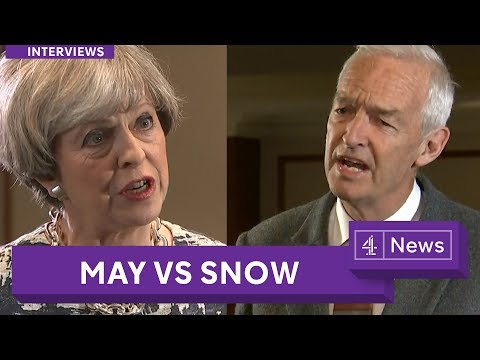 Theresa May interview with Jon Snow on the eve of the 2017 UK election