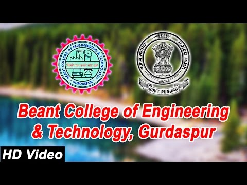 Beant College of Engineering & Technology, Gurdaspur, Punjab | BCET Gurdaspur
