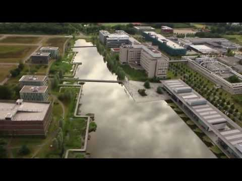 A drone showing you a Campus view from the top