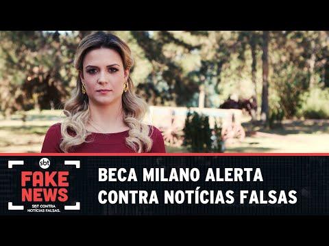 SBT Contra Notícias Falsas: Beca Milano alerta sobre o perigo de replicar Fake News