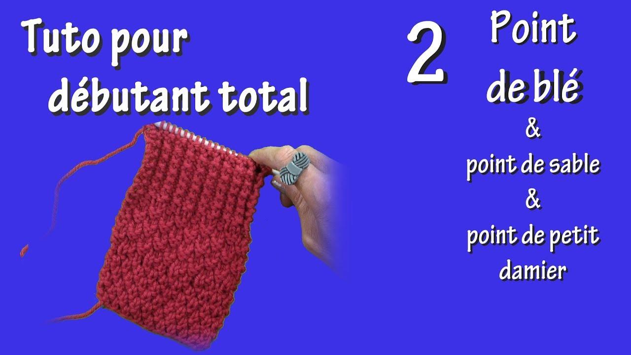 Tuto tricot pour débutant total   Point de blé - YouTube 8ca4f87d970