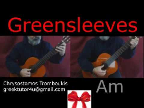 Greensleeves Guitar Solo Chords