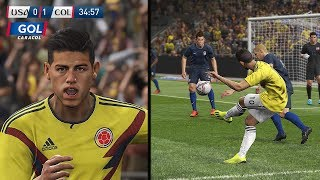 Recreación Estados Unidos 2-4 Colombia - Amistoso Internacional