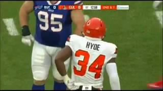 Carlos Hyde RB Browns -  Every Touch Preseason Week 2 vs Buffalo Bills