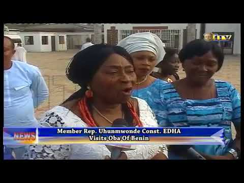 EDHA member representing Uhunmwonde Const. visits Benin Monarch
