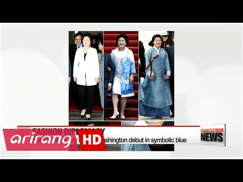 First Lady Kim Jung-sook's soft diplomacy and fashion draws international attention
