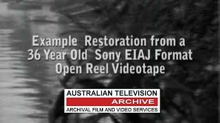 Example Restoration from EIAJ Format Open Reel Videotape