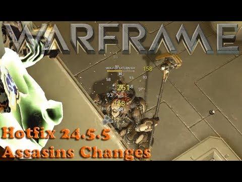 Warframe - Hotfix 24.5.5 Assasins Changes thumbnail
