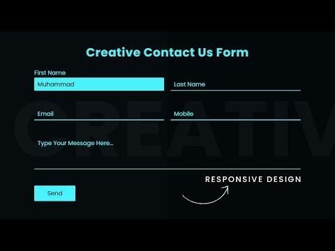 CSS3 Contact Us Form Design With Floating Placeholder | Responsive Design