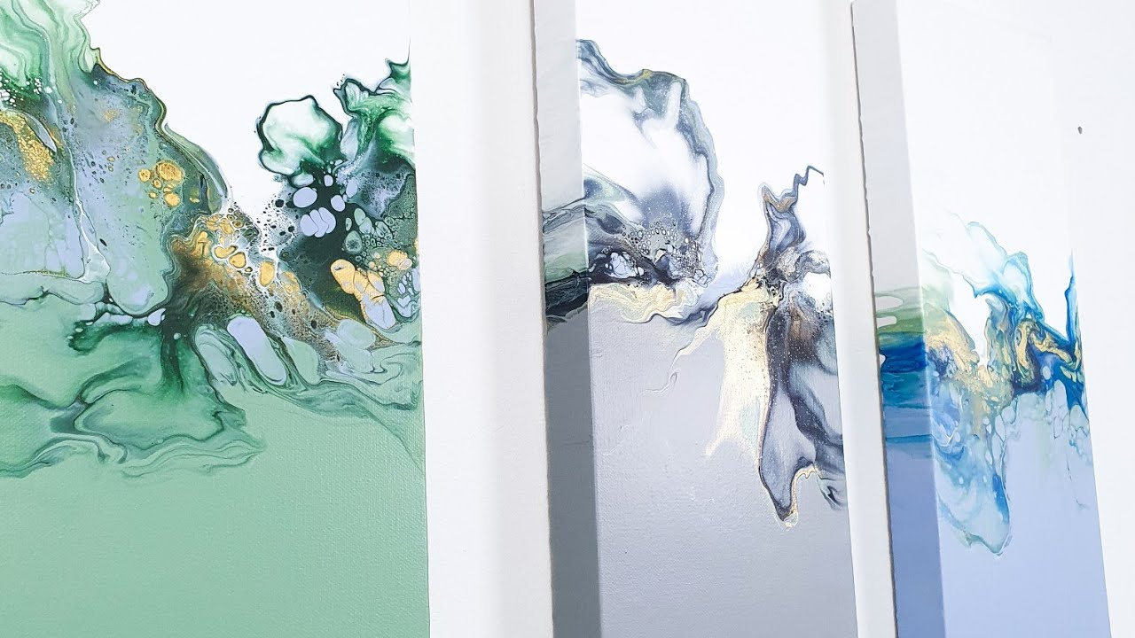Acrylic Pour Paintings with PASTEL COLORS?! Sweet & Bold Fluid Art
