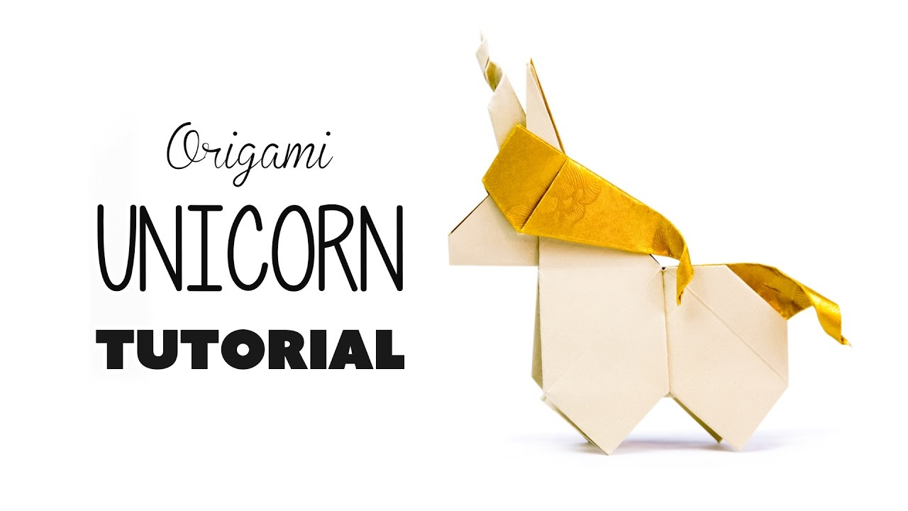 origami unicorn tutorial diy paper kawaii youtube