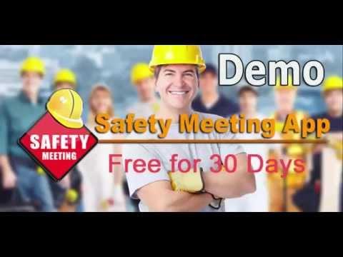 Safety Meeting App - Full Demo - OSHA Safety Topics