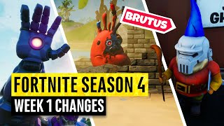 Fortnite | All Season 4 Map Updates and Hidden Secrets! WEEK 1