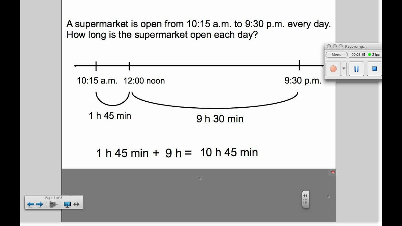worksheet Subtracting Time adding and subtracting time youtube