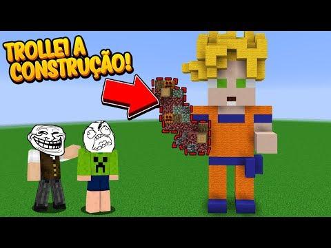 Minecraft: TROLLEI A CONSTRUÇÃO DO MEU AMIGO! AVACALHEI TUDO!!!