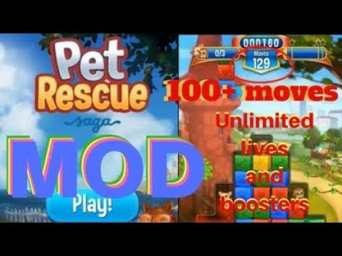 Pet Rescue Saga MOD | Unlimited Lives, Boosters | 100+ moves | Latest  Version