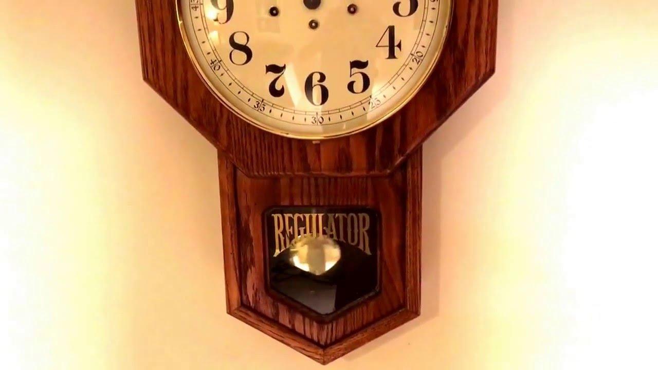 vintage howard miller regulator clock
