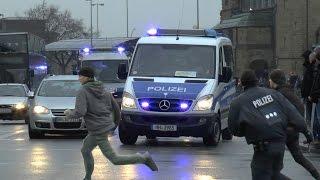 Festnahmen + Einsatzfahrten am Hamburger Hauptbahnhof 07.02.2015