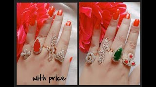 designer rings combo set with price || latest 4 fingers set || lifestyle