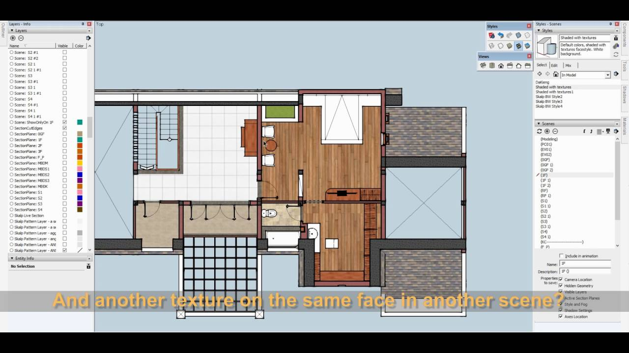 4 sketchup tips for 2d plan view youtube for How to design a floor plan in sketchup