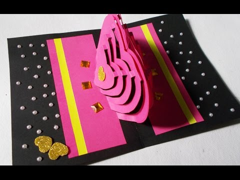 valentines day card how to make heart pop up love card 3d kirigami paper craft youtube