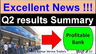 Yes Bank Latest News. YES BANK Q2 Results. YES BANK Q 2 Result Fundamental Analysis