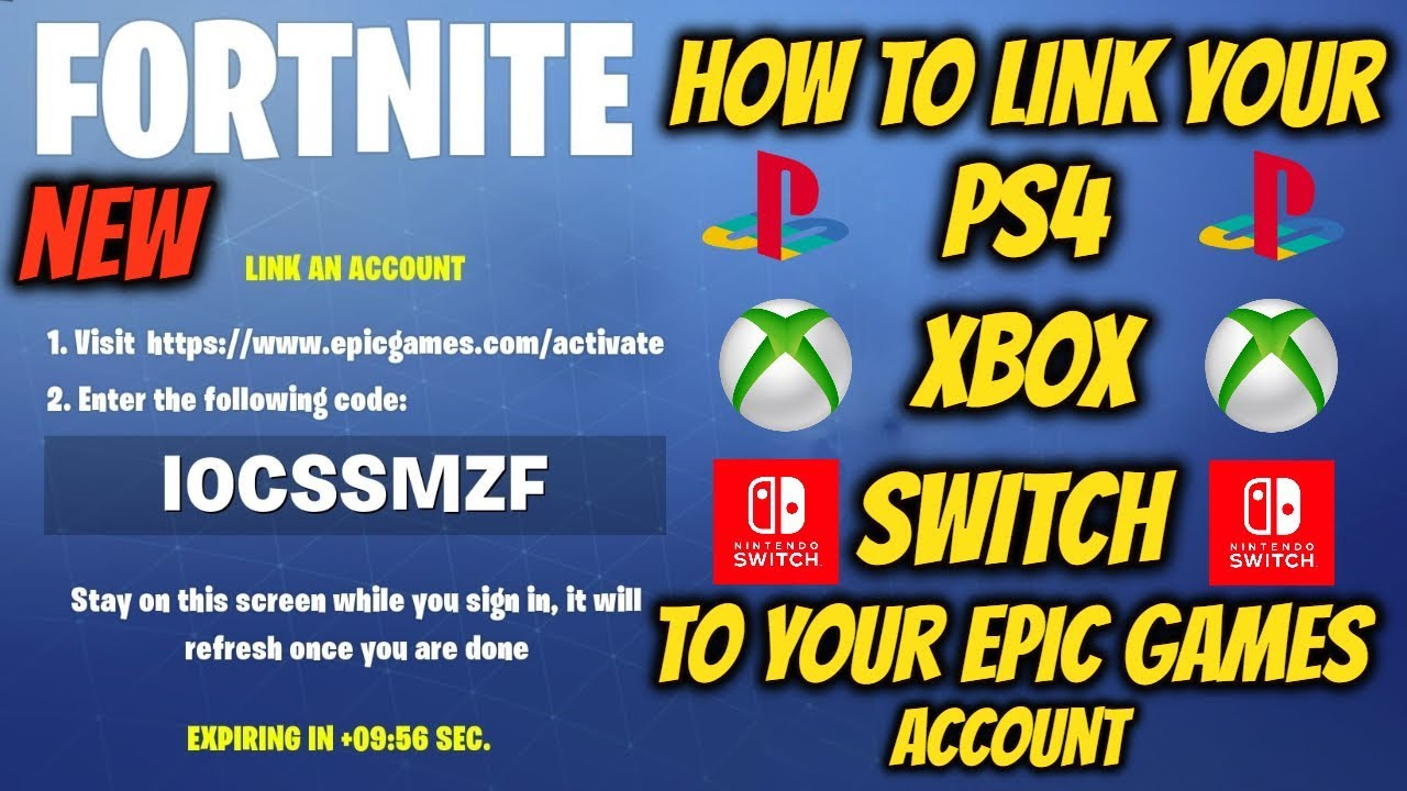 New How To Link Your Ps4 Xbox Switch To Your Epic Games