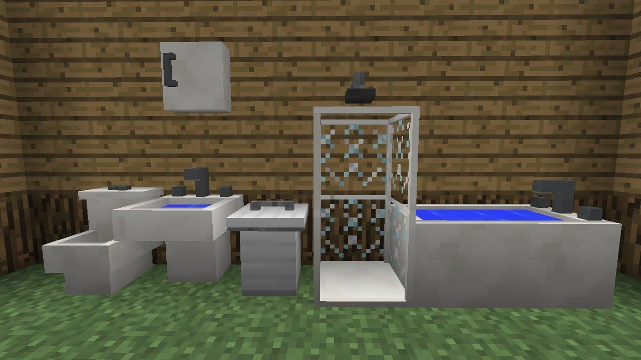 Minecraft Furniture Bathroom furniture mod beta (bathroom update!) - youtube