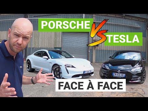 PORSCHE Taycan TURBO vs. TESLA Model S performance : un duel électrique !