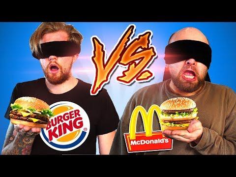 BLIND McDonalds vs. Burger King erschmecken!