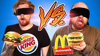 BLIND McDonalds vs. Burger King erschmecken!